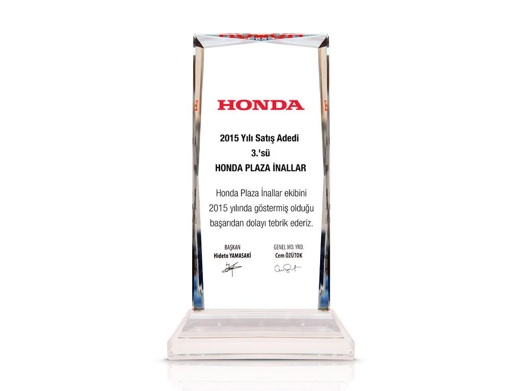 Honda Satış Adedi 3.sü